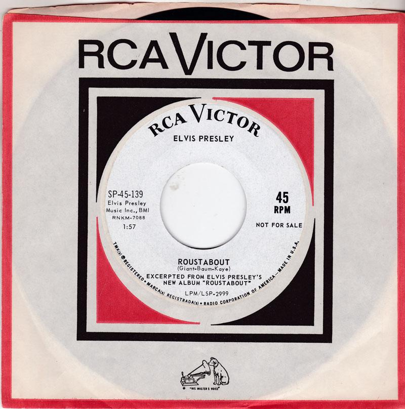 Elvis Presley - Roustabout / One Track Heart - RCA Victor SP-45-139 DJ