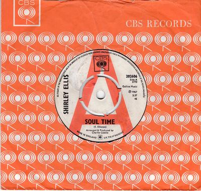 Shirley Ellis - Soul Time / Waitin' - CBS 202606 DJ