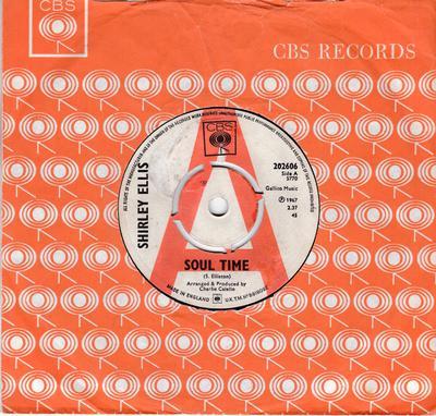 Shirley Ellis - Soul Time / Waitin' - CBS 202606 DJ