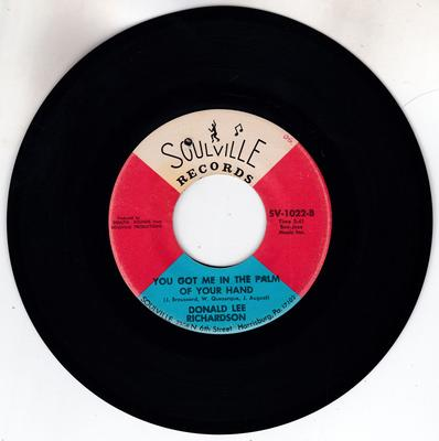 Donald Lee Richardson - You Got Me In The Palm Of Your Hand / I've Learned My Lesson - Soulville SV 1002