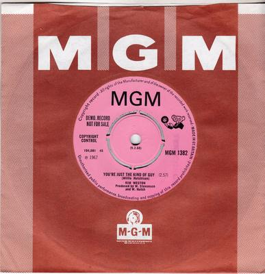 Kim Weston - You're Just The Kind Of Guy / Nobody - MGM 1382 DJ