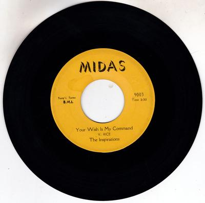 Inspirations - Your Wish Is My Command / I'll Take A Chance On You - Midas 9003