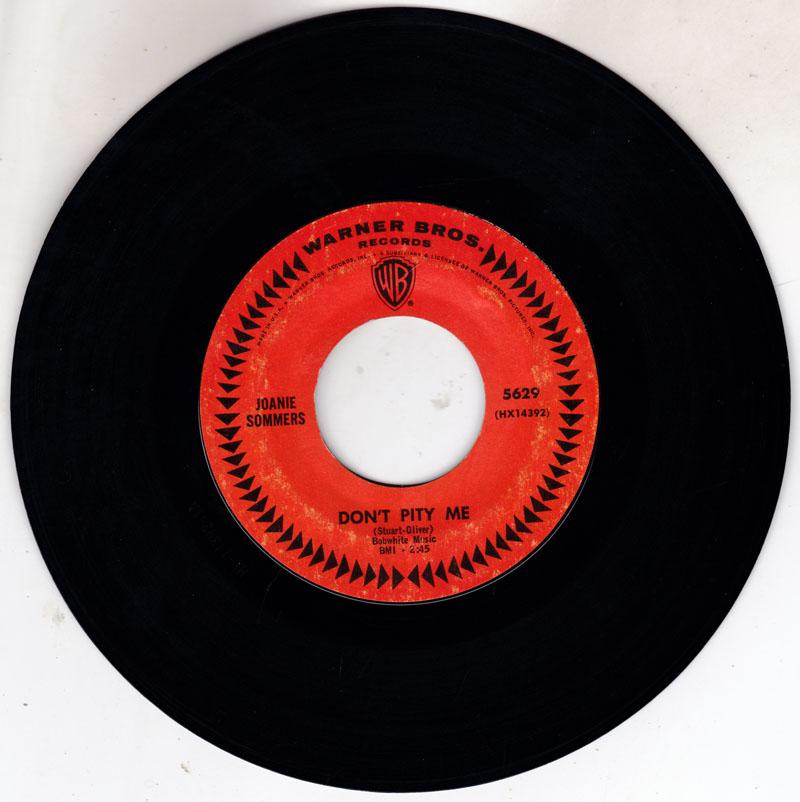 Joanie Sommers - Don't Pity Me / My Block - Warner Bros 1740