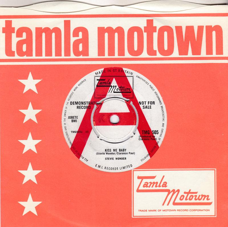 Stevie Wonder - Kiss Me Baby / Tears In Vain - Tamla Motown TMGN 505 DJ