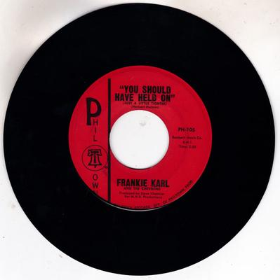Frankie Karl - You Should Have Held On ( Just A Little Tighter )  / Boy Next Door - Phil Town PH 106