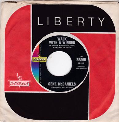 Gene McDaniels - Walk With a Winner / A Miracle - Liberty 55805