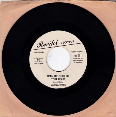 Darrell Banks - Open The Door To Your Heart / Our Love ( Is In The Pocket ) - Revilot RV-201 DJ