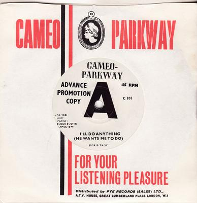 Doris Troy - I'll Do Anything (He Wants Me To Do) / But I Love Him - Cameo Parkway C 101 DJ