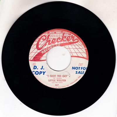 Little Walter - I Gotta Go / Roller Coaster - Checker 817 DJ
