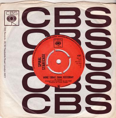 Spiral Starecase - More Today Than Yesterday / Broken-Hearted Man - CBS 4187