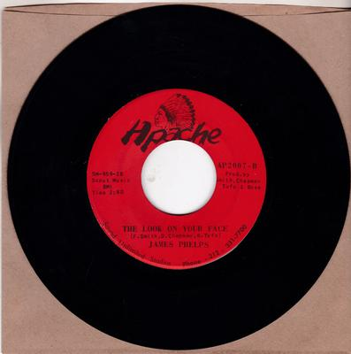 James Phelps - The Look On Your Face / You Were Made For Love - Apache AP959