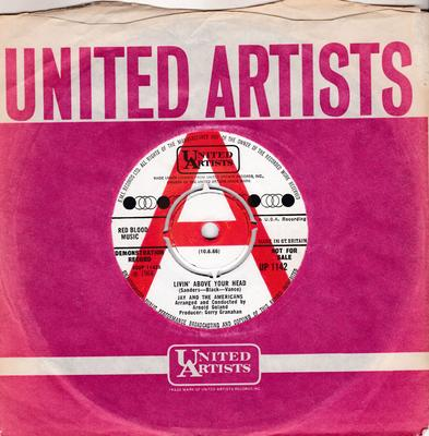 Jay And The Americans - Livin' Above Your Head / She's The Girl ( That's Messin' Up My Mind) - United Artists UP 1142 DJ