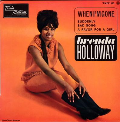 Brenda Holloway - When I'm Gone / inc: A Favor For A Girl - 1965 4 track French EP  - Tamla Motown TMEF 508 EP PS France