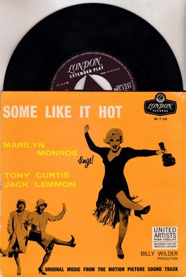 Marilyn Monroe - Some Like It Hot  / 1959 UK tri-center EP with cover - London RE-T 1231 EP PS