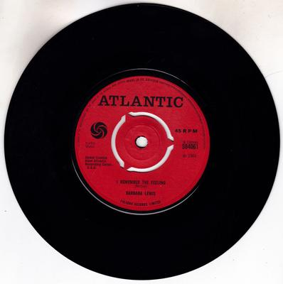 Barbara Lewis - I Remember The Feeling / Baby What Do You want Me To Do - Atlantic 584061