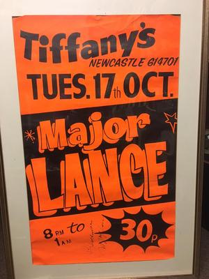 "Major Lance - LIVE at Tiffanys Tuesday 17th October 1972 / 19"" x 30"" Autographed by Major Lance Poster - Poster"