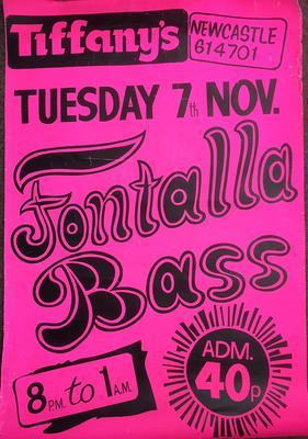 """FONTELLA BASS -  Fontella Bass live at Tiffanys / 19"""" x 30"""" poster Tuesday 7th. November 1972 - Tiffanys Fontella Bass"""