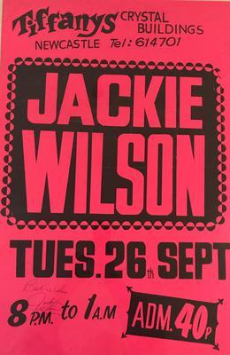 Jackie Wilson - Live Tiffanys Newcastle Under Lyme / Tuesday 26th. September 1972 - Tiffanys