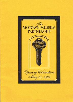 Motown Museum Partnership Program - Opening Celebrations / Thursday May 25th 1995 - Motown Museum 25 5 1995