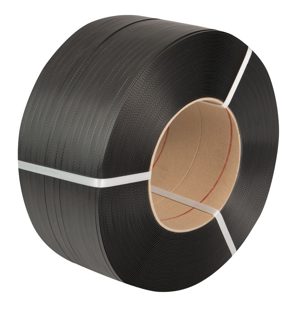Safeguard® Black 12 x 0.63mm High Elasticity PP Strap