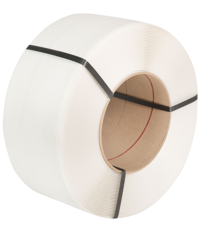 Safeguard® White 12 x 0.63mm PP Strap, 3000mtr