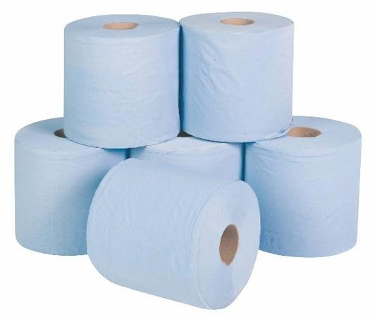 Image for Blue Single Ply Centre Feed Rolls