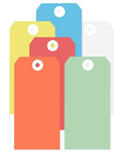 Image for Transpal® Yellow Wired Tags
