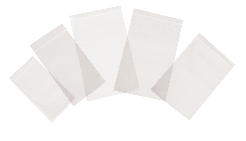 Tenzapac® 76 x 82mm Plain Grip Seal Bags, 35mu