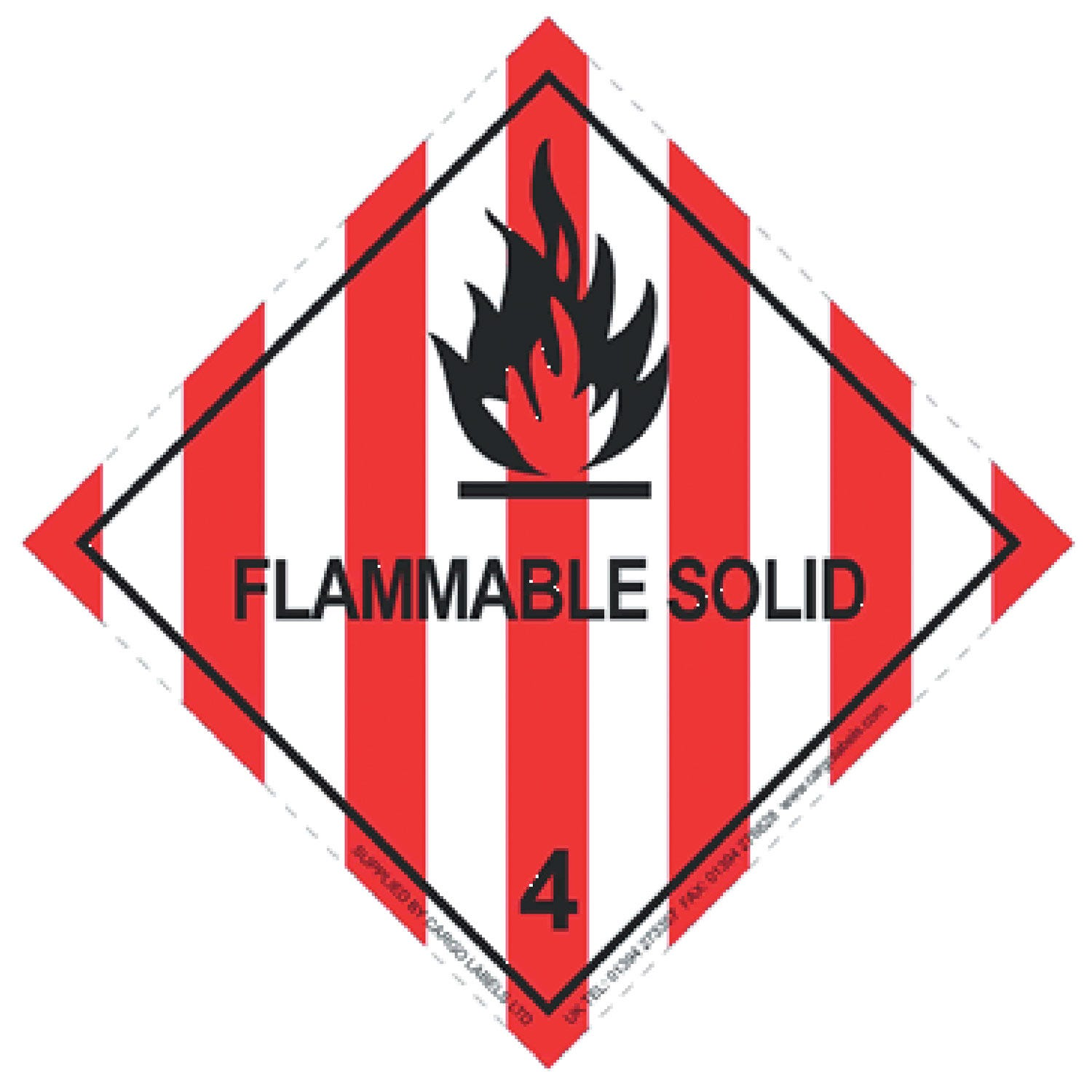 Transpal® FLAMMABLE SOLID Labels