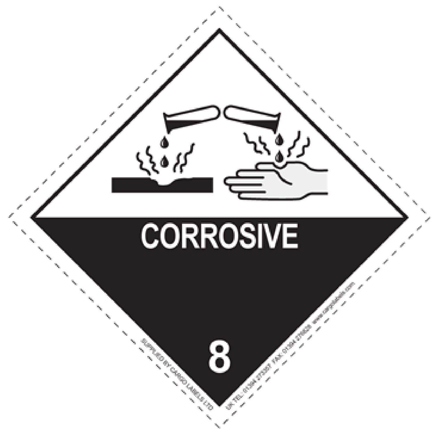 Transpal® CORROSIVE Labels