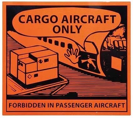 Transpal® CARGO AIRCRAFT ONLY Labels