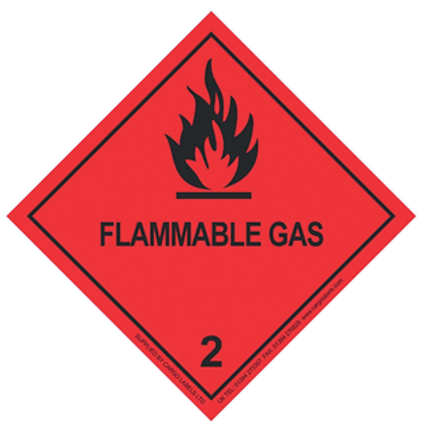 Transpal® FLAMMABLE GAS Labels