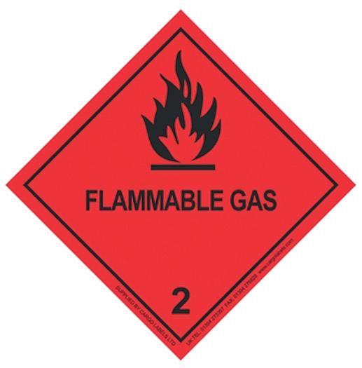 Image for Transpal® FLAMMABLE GAS Labels