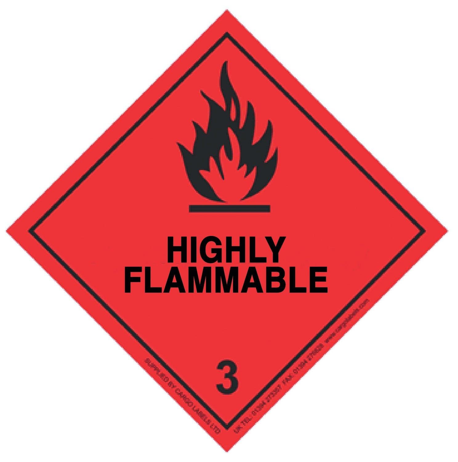 Transpal® HIGHLY FLAMMABLE Labels