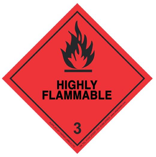 Image for Transpal® HIGHLY FLAMMABLE Labels