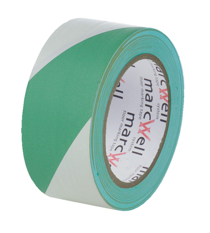 Marcwell® Green/White Hazard Tape