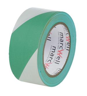Marcwell® Green/White Hazard Tape