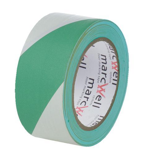 Image for Marcwell® Green/White Hazard Tape