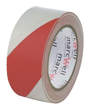 Marcwell® Red/White Hazard Tape