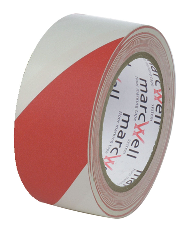 Marcwell® Red/White Hazard Tape