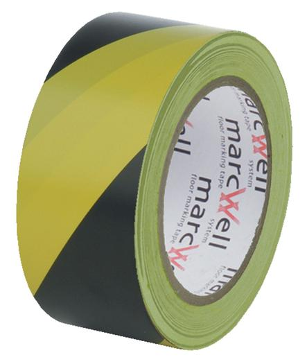 Image for Marcwell® Yellow/Black Hazard Tape
