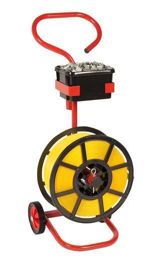 Image for Safeguard® Plastic Reel Strap Dispenser Trolley