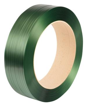Safeguard® Green 12.5 x 0.6mm Embossed PET Strap, 2500mtr