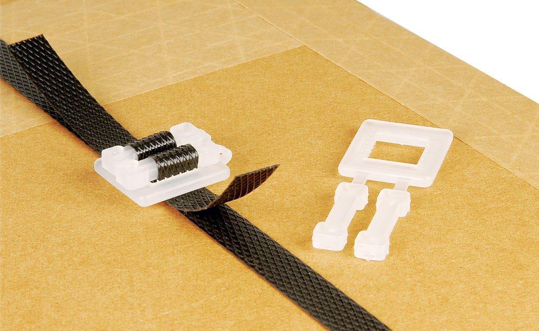 Safeguard® White Plastic Buckles