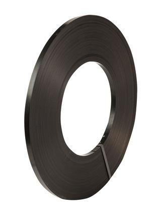 Safeguard® Black 13mm Ribbon Wound Strap, 395mtr