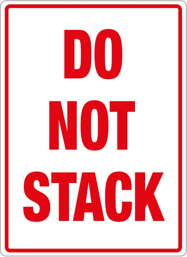 Transpal® DO NOT STACK Labels
