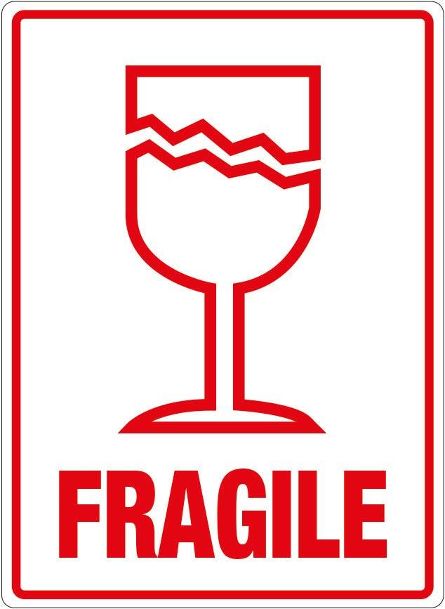 Transpal® FRAGILE Labels, 108 x 79mm