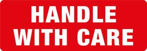 Transpal® HANDLE WITH CARE Labels, 89 x 32mm