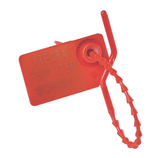Image for Tegracheck® Knurled Tail Security Seals, 175mm, red