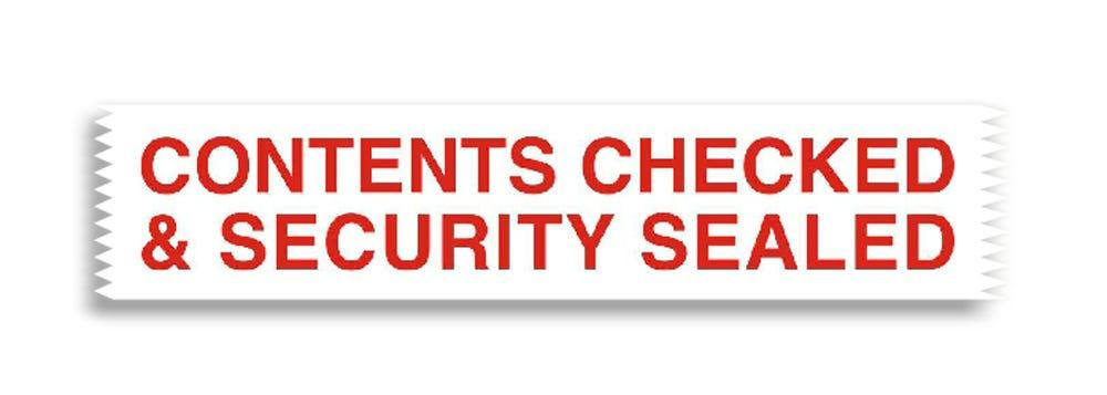 Pacplus® CONTENTS CHECKED SECURITY SEALED Tape